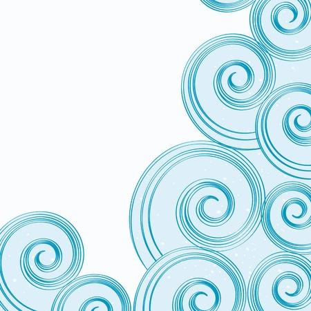 rippled: sfondo astratto onde d'acqua blu. Vettoriali