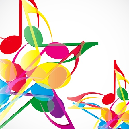 notation: music stars background. Colorfull music notes.