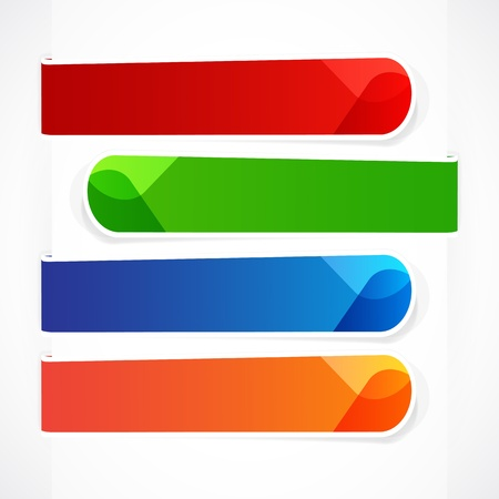 corner tab: Colorful banners for your message. Illustration