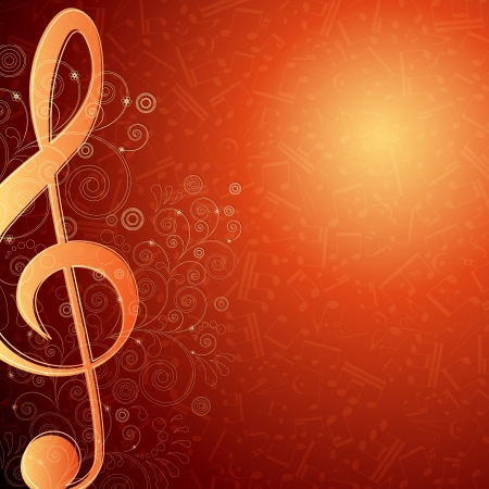 Hot musical background Vector