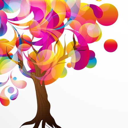 vector of abstract tree background.