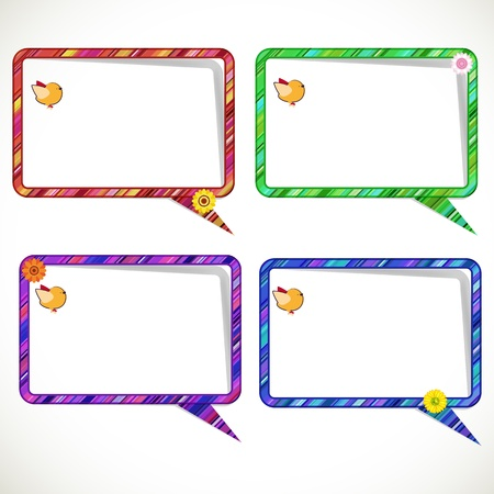 Striped communication balloons. Vector
