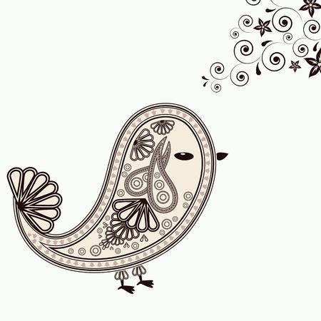 Background with bird design elements. Stock Vector - 14349188