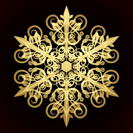 Card with christmas snowflake Stock Vector - 14688126