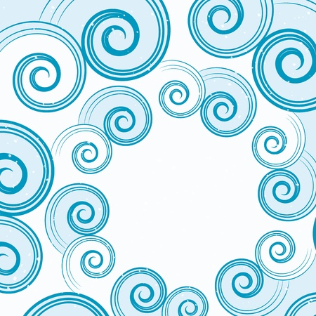 epicenter: abstract blue water waves