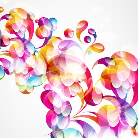 Abstract colorful arc-drop background Stock Vector - 14773200