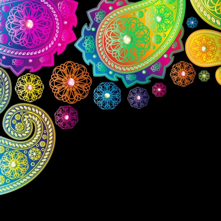 Paisley designs background  Vector