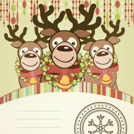 Christmas background card. Vector