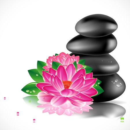meditation stones: Spa design background.  Illustration