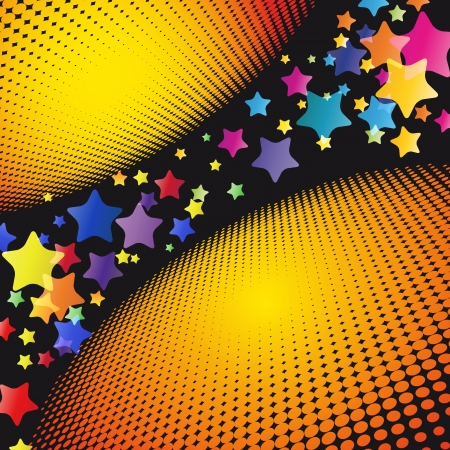 Party Stars Background. Vector