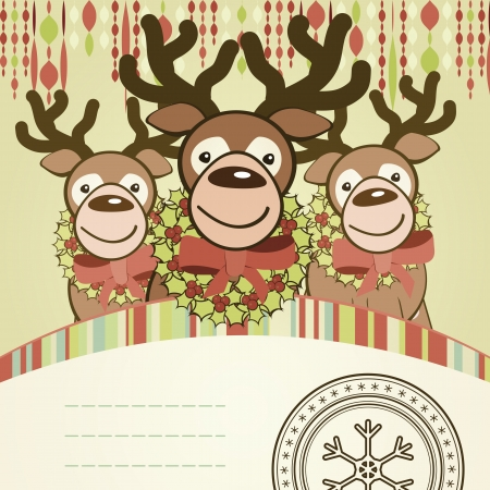 Christmas background card. Vector