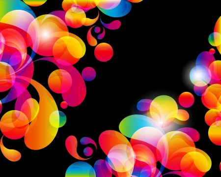 Card background. Abstract bright color drops and clean place for your text. Illustration