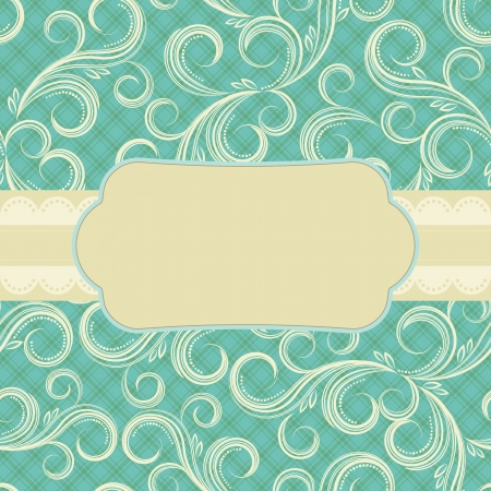 Ornate floral background.  Cover design for the photo album. Vector