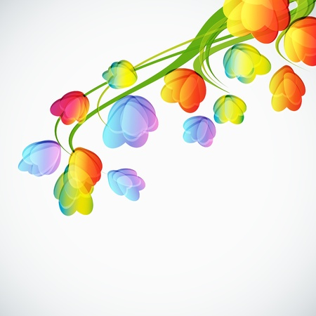 Background with a abstract flowers  Vector