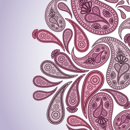 Paisley Oriental decor background Vector