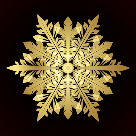 Card with christmas snowflake Stock Vector - 15025438
