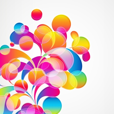 Abstract colorful arc-drop background. Vector. Stock Vector - 15089258
