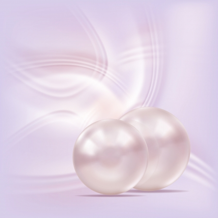 Gentle background with pearls, vector.  Vector