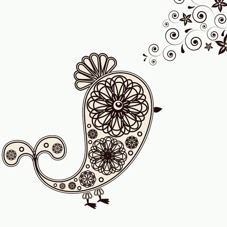 Background with bird design elements. Vector