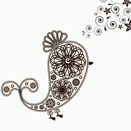 Background with bird design elements.