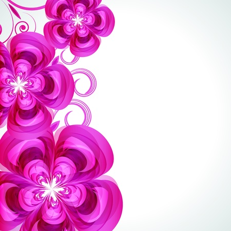 flower layout: Abstract flower vector background cover template.