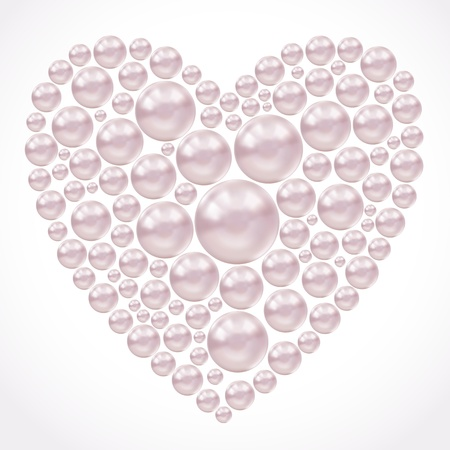 Gentle background with pearls Vector