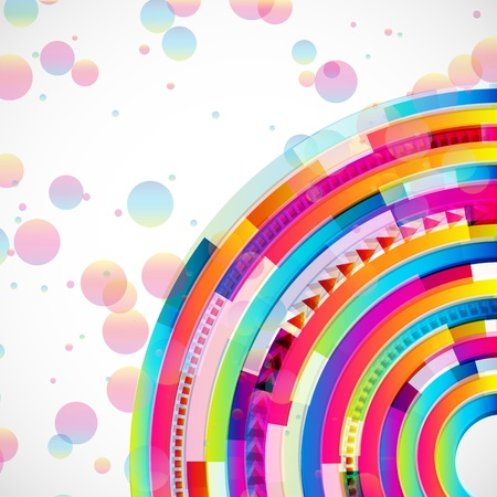 Abstract digital circles vector background Vector
