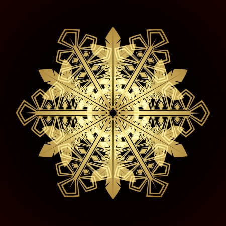 Card with christmas snowflake, vector illustration Stock Vector - 15405949