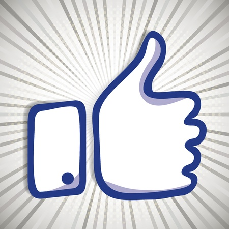 best friend: Like and Thumbs Up symbol. Abstract background.
