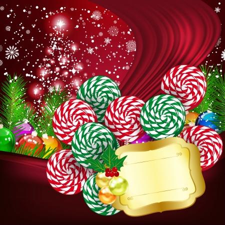 Christmas background  illustration Illustration