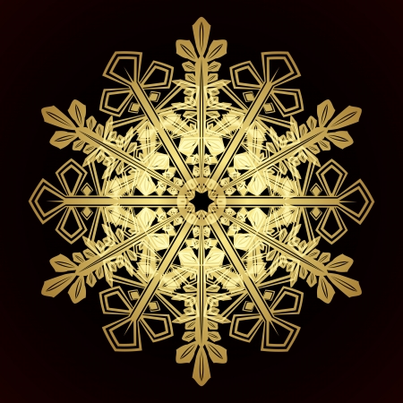 Card with christmas snowflake Stock Vector - 15730879