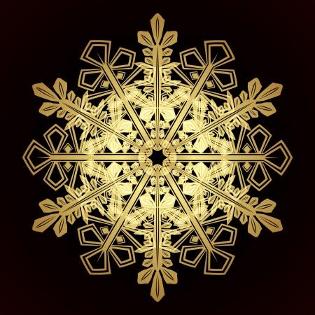 Card with christmas snowflake Stock Vector - 15730879