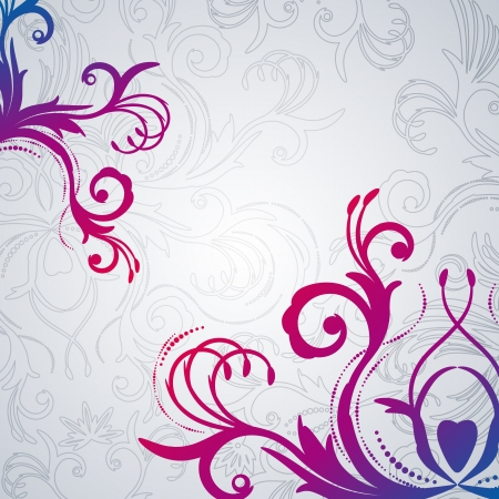 Abstract floral background with east flowers. Vector