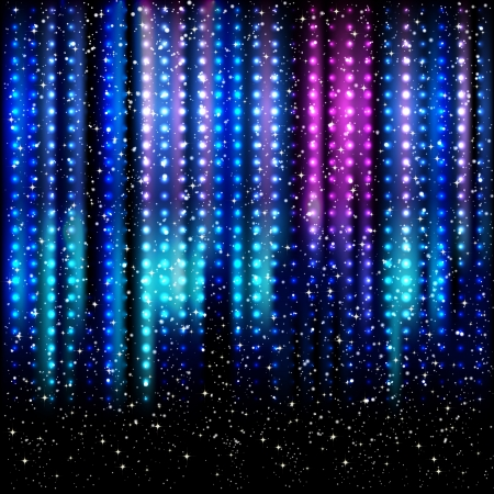 northern light: Striped spotlights  background.  Illustration