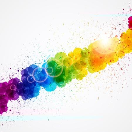 Abstract background bilden durch Aquarell Farbspritzern.