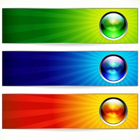 web header: Abstract color banners for your design. Illustration