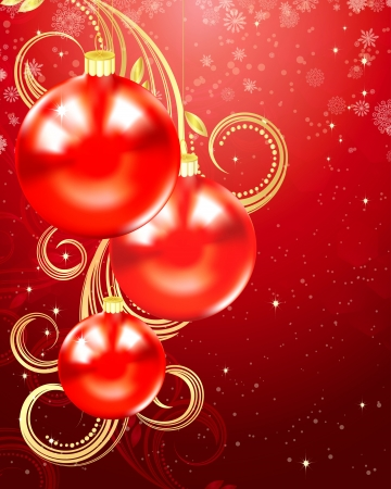 Balls, Christmas and holiday background. Vector