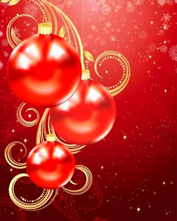 Balls, Christmas and holiday background.