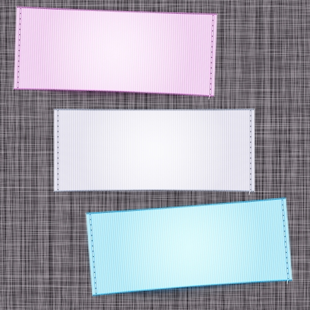 clothing label: Clothing label background Illustration