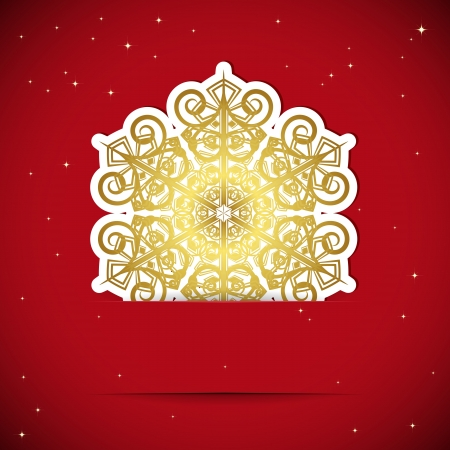 Christmas background. Snowflake inserted into a slot on the paper card. Vector illustration. Stock Vector - 15841090