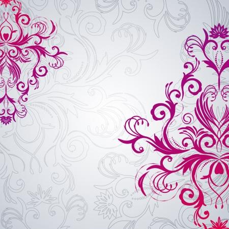 Abstract vector florale achtergrond met Oost-bloemen.