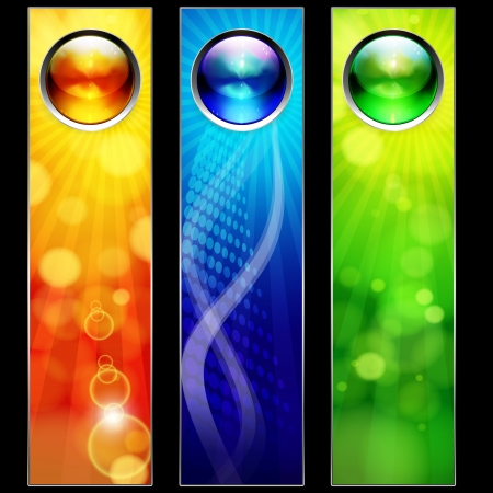 technology abstract background: Abstract color banners for your design. Illustration