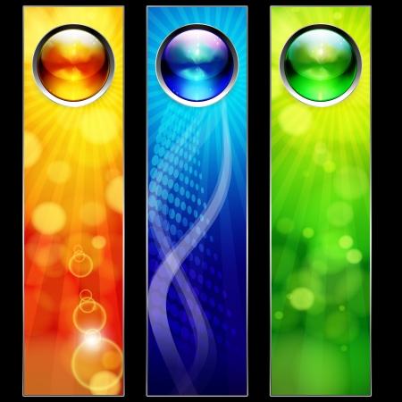 Abstract color banners voor uw ontwerp.