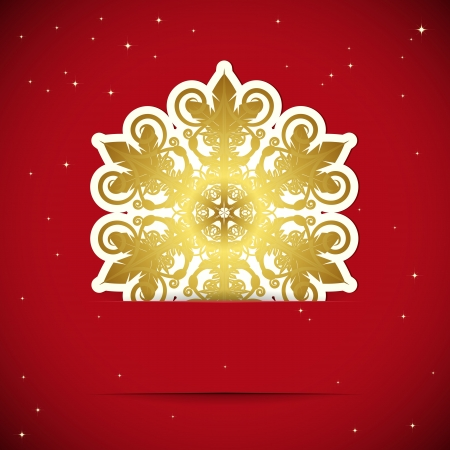 Christmas background. Snowflake inserted into a slot on the paper card. illustration. Stock Vector - 15857642