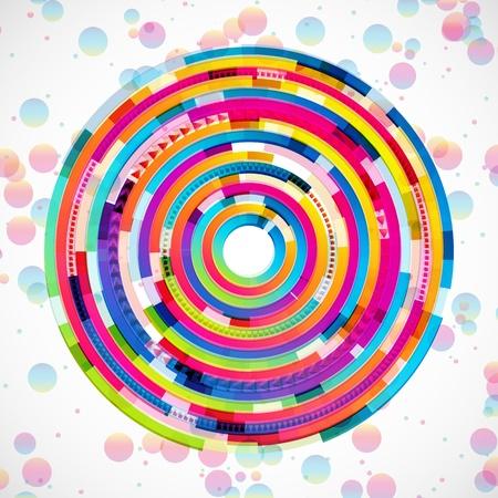 ellipses: Abstract digital circles background Illustration