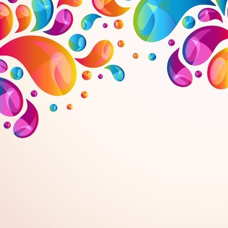 Splash background cover template.  Illustration
