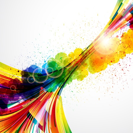 Abstract background forming by watercolor paint splashes. Stock Vector - 16374023