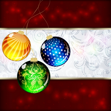 Background with Christmas balls. vector illustration Stock Vector - 16374077