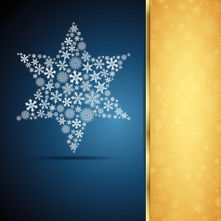 Christmas star, snowflake design background. Vector