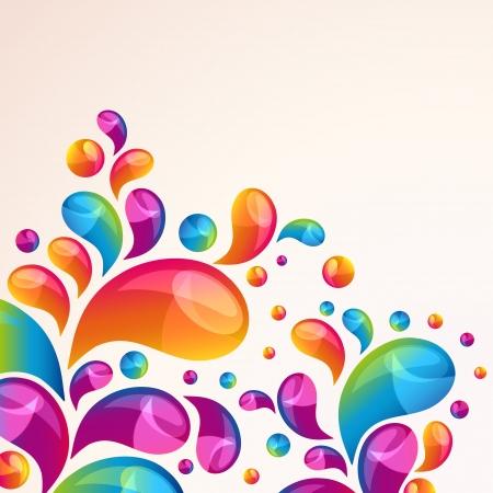 Splash vector background cover template.